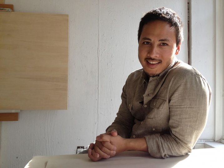 Victoria artist Rick Leong was the first participant in the Bill and Isabel Pope Artist Residency in Painting at NSCAD.